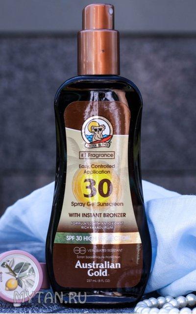 Фото крема SPF 30 Spray Gel with bronzer