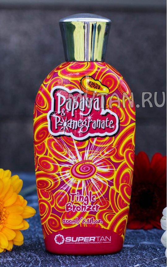 Фото крема SuperTan Papaya & Pomegranate