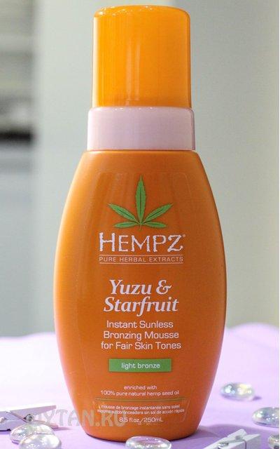 Фото крема Hempz Yuzu&Starfruit Sunless Mousse Fair